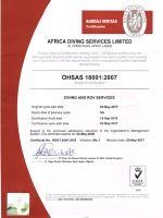 OHSAS-Certificate